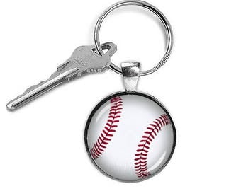 Baseball Key Chain Baseball Key Ring Baseball Keyfob Sports Jewelry