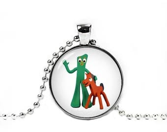 Gumby and Pokey Pendant Gumby and Pokey Necklace Gumby and PokeyJewelry