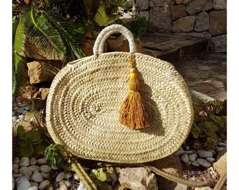 Basket oval Gold tassel
