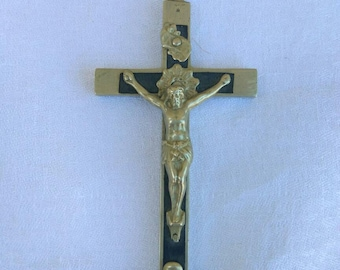 A vintage crucifix, cross from Jerusalem. Religious, Catholic jewellery.