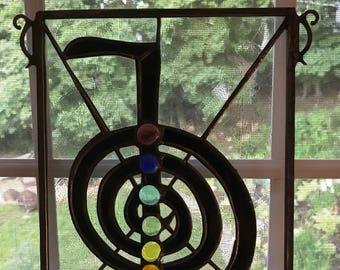 Cho Ku Rei Stained Glass Panel