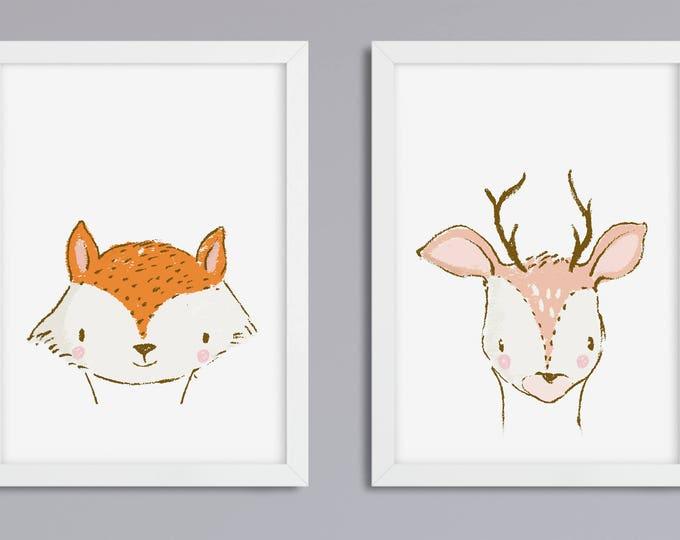 2 set animals of choice - unframed art print