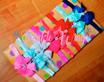 Cute hair bow head band made to match Twinkle Wings Birthday Outfits