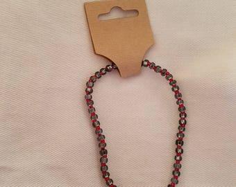 Black and Red Beaded Bracelet