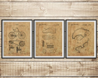 Triathlon Printable, Triathlon Print, Triathlon Art, Patent Print Group,Patent Print Set,Triathlon Cycling,Triathlon Gifts, INSTANT DOWNLOAD