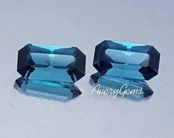 Tourmaline Indicolite Pair 0.9 Ct & 0.9 Ct Rare Loose Gemstone Natural Ror Tourmaline Earrings Precious Gemstone Precision Cut By AveryGems
