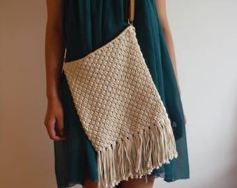 Handmade cotton cord bag/macrame bag/ crossbody bag/crochet bag/gift/summer/holiday