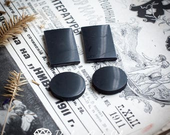 Set of 4 pieces shungite phone plate for EMF protection WHOLESALE from Karelia