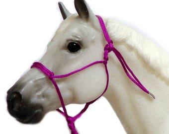 LSQ Custom Model Horse Rope Halter. 1:9 Scale
