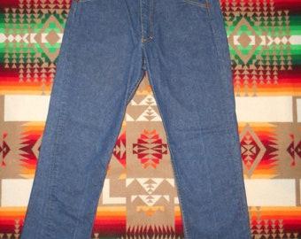 LEE Riders Dark Indigo Selvidge Denim Jeans 34 x 31