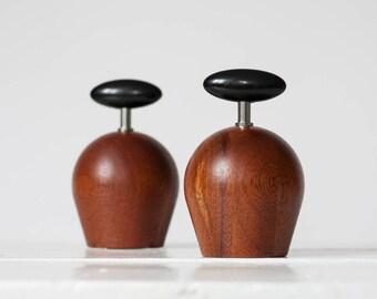Bodum - Salt and Pepper Mill - Richard Nissen - Teak Wood - 1980s - Danish Modern