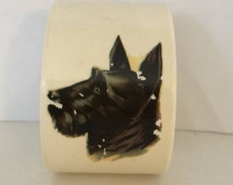 scottie dog napkin ring with a few scratches