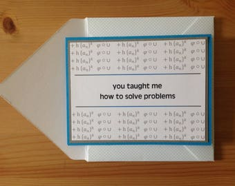 Math Teacher Thank You Card - Math Thank You - Teacher Appreciation - Math Teacher - Maths Teacher Thank You Card