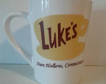 Luke's Diner 14oz Coffee Mug - Gilmore Girls Mug - Stars Hollow, Connecticut
