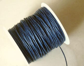 80 Yards Blue Waxed Cotton Cord, 1mm Wide Blue Cotton Cord, 1 Roll Dark Blue Waxed Cord, Bracelet Cord Lace String Rope, Beading Supplies