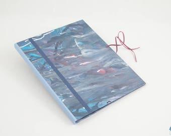 Cardboard drawings/designs blue shirt