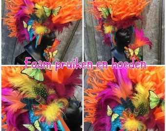 Butterfly mohawk, foam wig