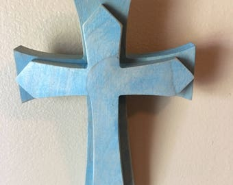 Hand Crafted **made in the US** Wooden Cross wall hanging