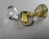 Choice of Included Quartz Arch Cabs / Quartz in Quartz / Rutilated Quartz / Partial Rutile Star Cabochon