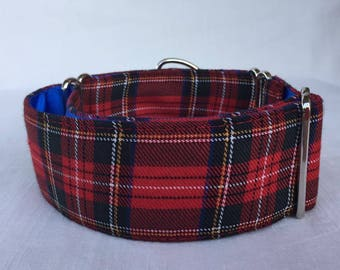 Tartan Martingale Dog Collar