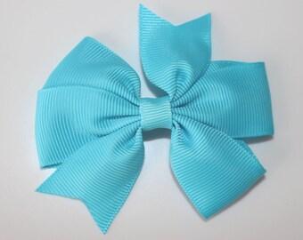 Sky blue bowtie hair clip for girl