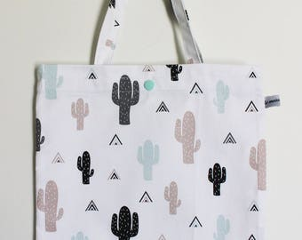 "Bag ""Tote bag"" cactus for child"