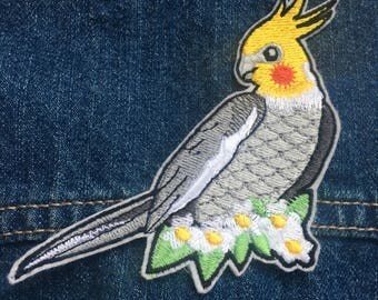 Cute Cockatiel Embroidery Patch