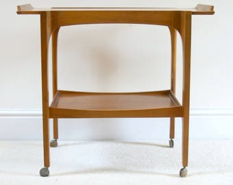Stunning Danish Influenced Remploy Mid Century Teak Drinks Trolley/Cart