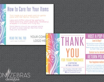 Floral Thank You Card | Care Card |  4x6 Postcard | Free Personalization for LuLaRoe Retailers