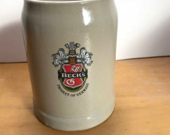 Beck's Stoneware Beer Stein Made in Germany