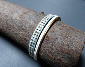 Faux leather & suede Cuff Bracelet