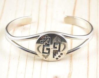 Bracelet, Navajo, man, woman, 9/25th silver