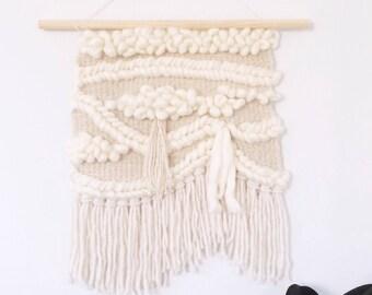 Woven Wall Hanging: Boho Tapestry, Summer Mornings Weaving