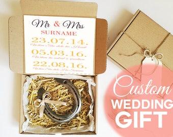 Personalized Wedding Gift Wedding Horsesgoe Mr & Mrs Gift Lucky Horseshoe Bridal Shower Gift Ideas Anniversary Gift Ideas Unigue Party Gift