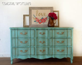 SOLD!! (Sample Only) French Provincial Dresser, Bedroom Furniture, Nursery Furniture, Nursery Dresser, Painted Furniture