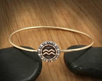 BiggDesign Horoscope Bracelet, Aquarius