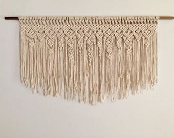 "Large Macrame Wall Hanging ""By and Down"""
