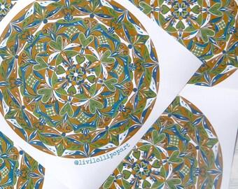 Mandala print mandala art mandala wall art mandala painting mandala drawing mandala gifts mandala illustration yoga studio art moroccan art