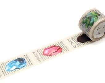 MT Mineral Ore Washi Tape, Geology Study Planner Tape, Rocks And Minerals, Geology Gift, Cool Stationery, Scrapbook Embellishment, Geography