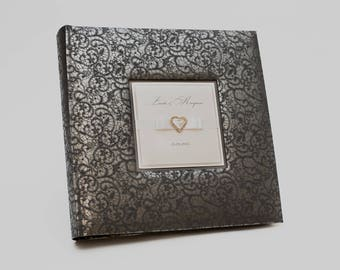 Large photo album, Black album, Black photo album, wedding, Personalized Black album, black pages, large wedding album, album black pages
