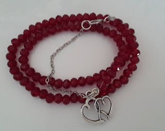 Bracelet to wrap glass beads