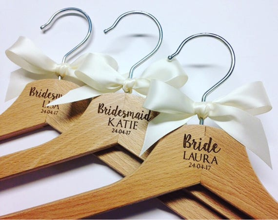 Unusual Wedding Gifts Australia: Personalised Wedding Hangers Bridal Party Hangers