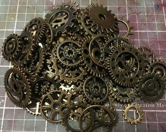 Cogs and gears, jewellery findings