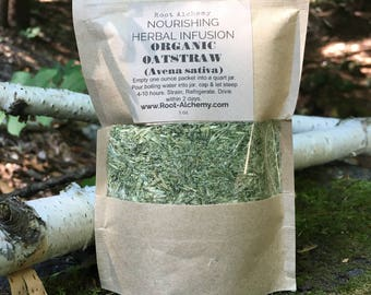 Oatstraw Nourishing Herbal Infusion; Oatstraw tea