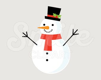 SNOWMAN Clipart Illustration for Commercial Use | 0037