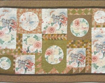 obi kimono quilt wall cotton embroidery silk