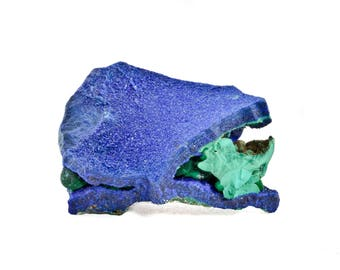 Azurite with Malachite from Touissit, Morocco 08A