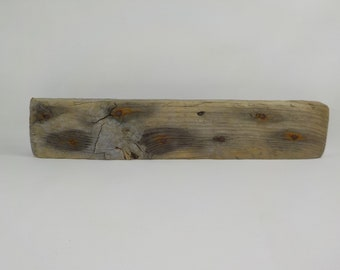 "Driftwood Shelf Supply 19.7""/50 cm Thick Driftwood Plank , Flat Driftwood With Rusty Nails, Driftwood Board #47A"