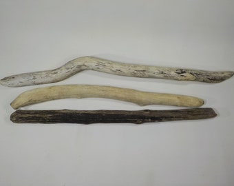 3 Driftwood Sticks 20-24.4''/51-62 cm,Sturdy/Thick Driftwood Sticks,Macrame Sticks, Decorative Driftwood,Driftwood Branches #69S