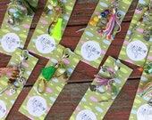 Planner charm, bag charm, boho tassel keychain, tassel clips, purse tassel, planner tassel charm, stitch marker, tassel charm for purses